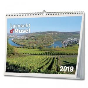 """Calendrier 2019 """"Laanscht d'Musel"""""""